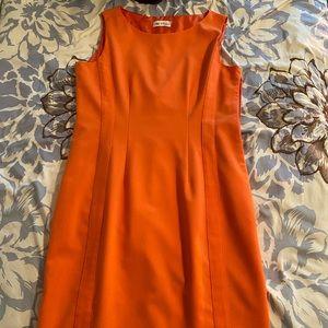 Calvin Klein Orange Sheath MIDI Dress